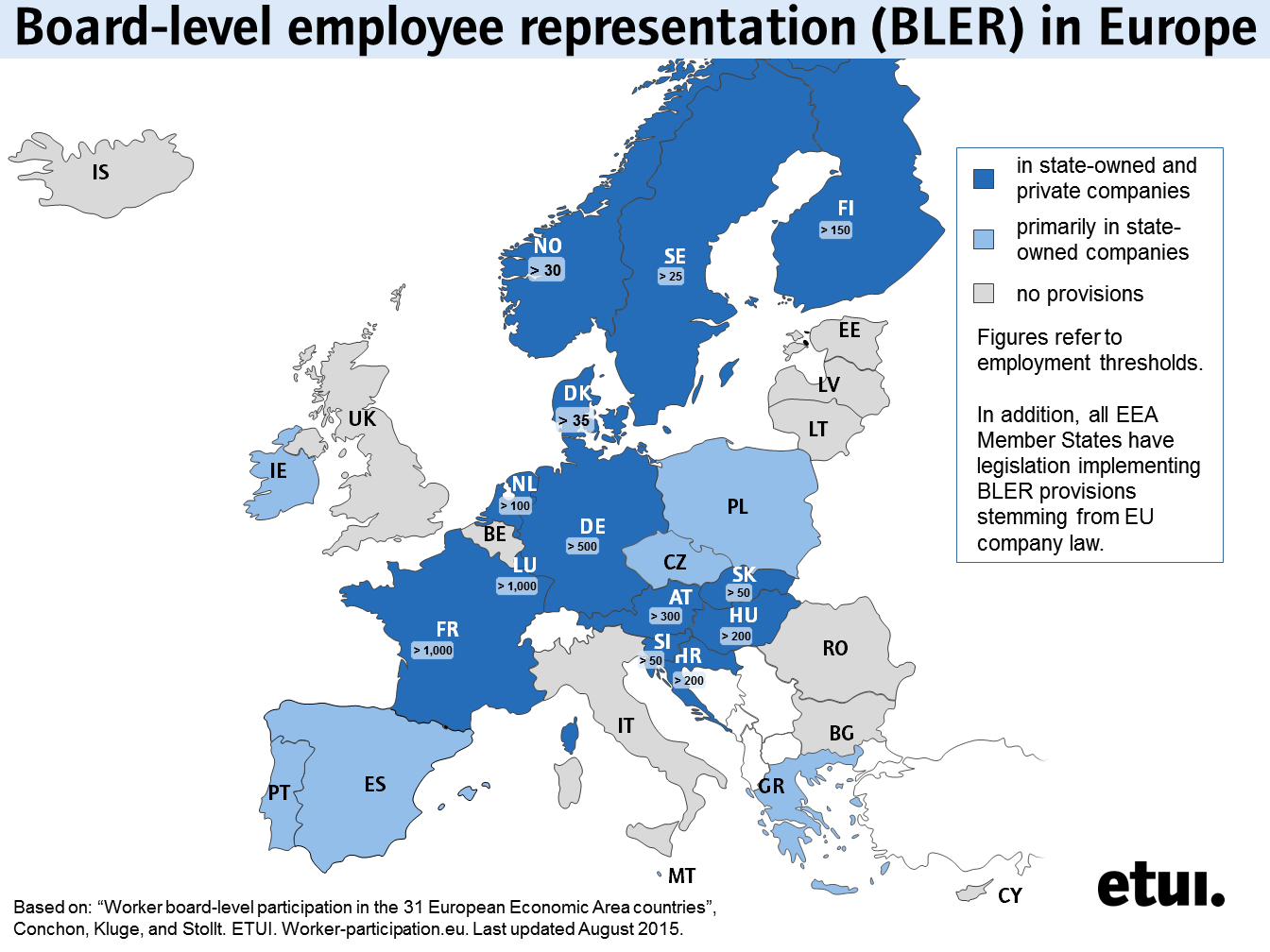 Whats new ber wp home worker participation the etui has updated its map on board level employee representation in europe which now provides the latest state of affairs in europe and thresholds in publicscrutiny Images